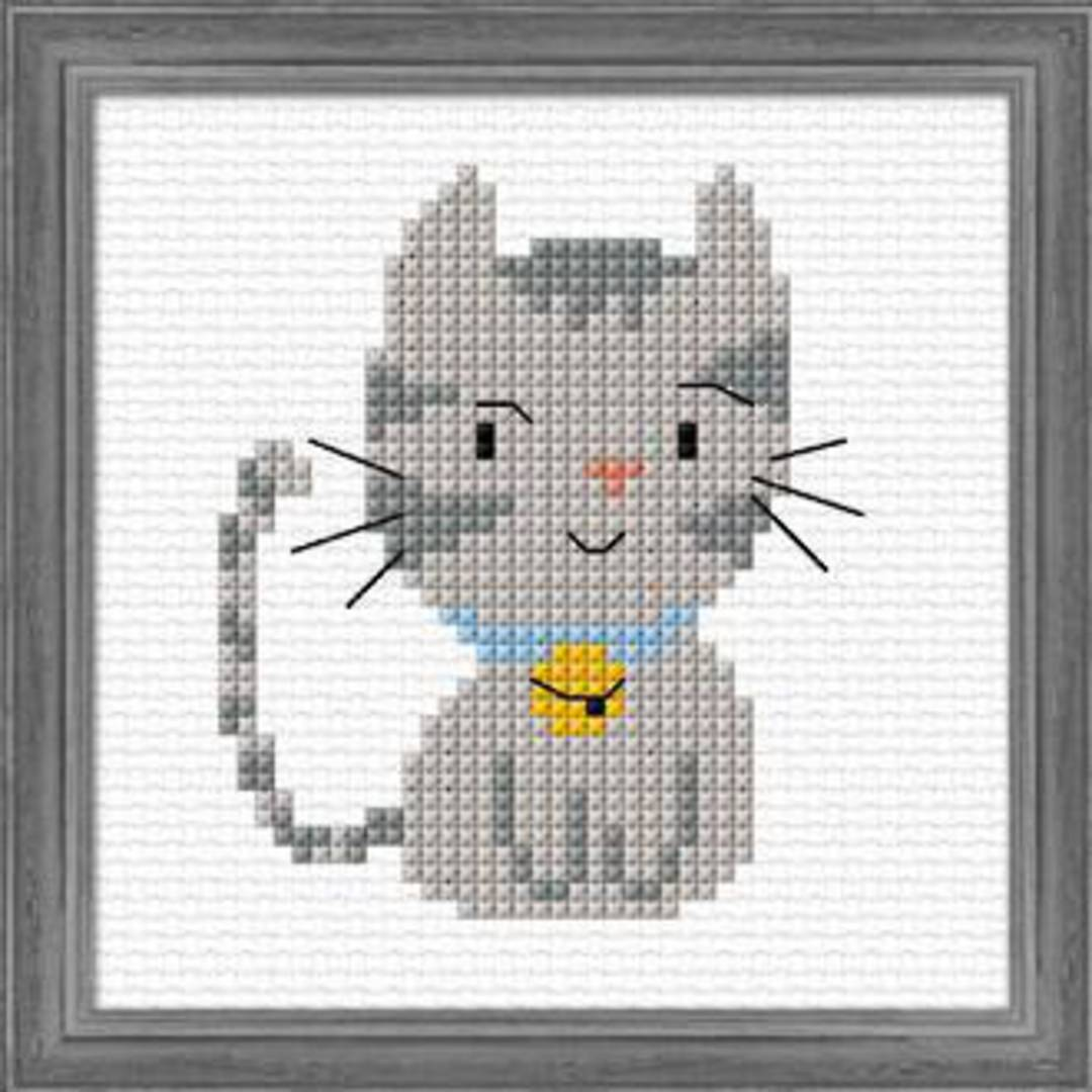 Kids craft- Silver Kitten image 0