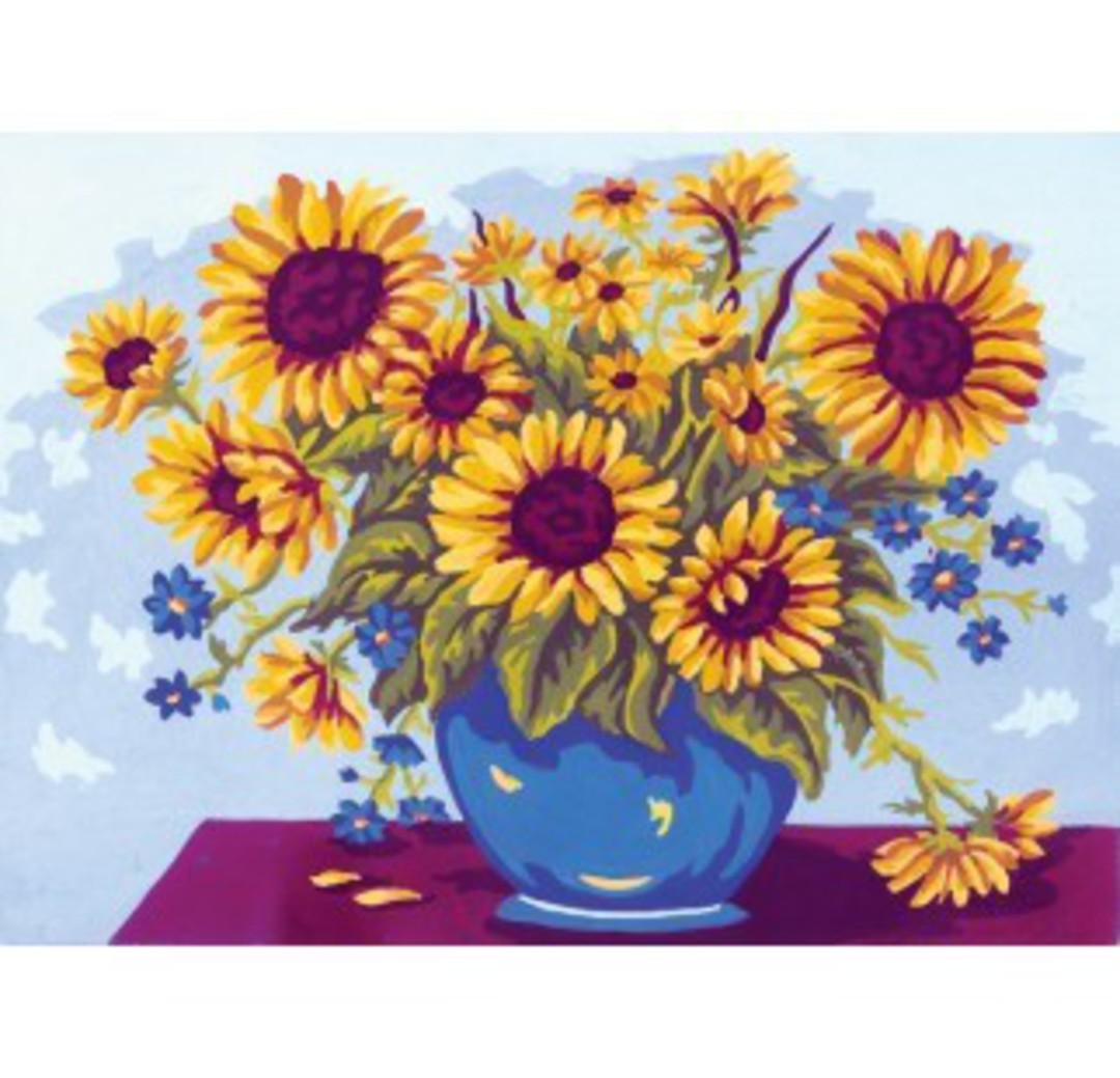 Tapestry Canvas Sunflowers image 0