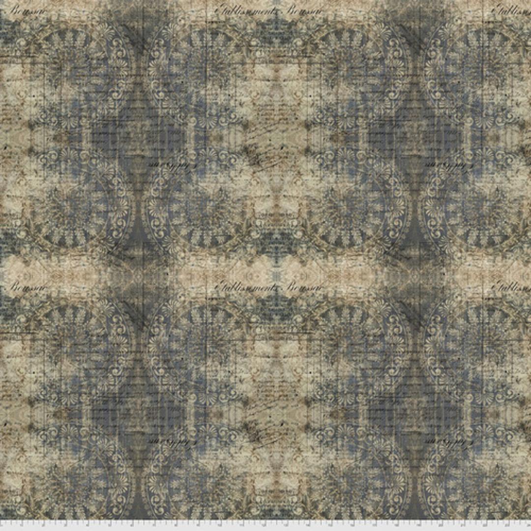 Fabric- Tim Holtz- Abandoned2 .Indigo image 0
