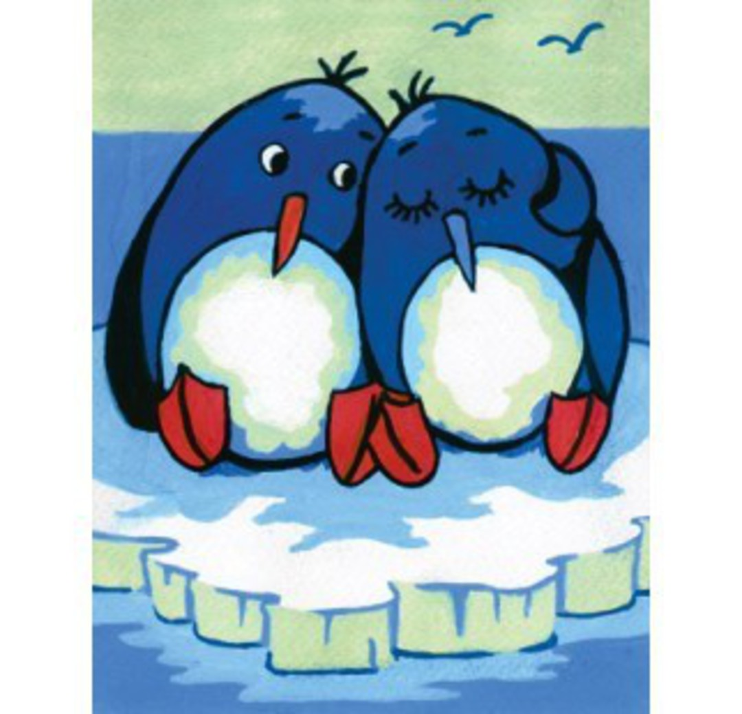 Tapestry Canvas Penguins image 0