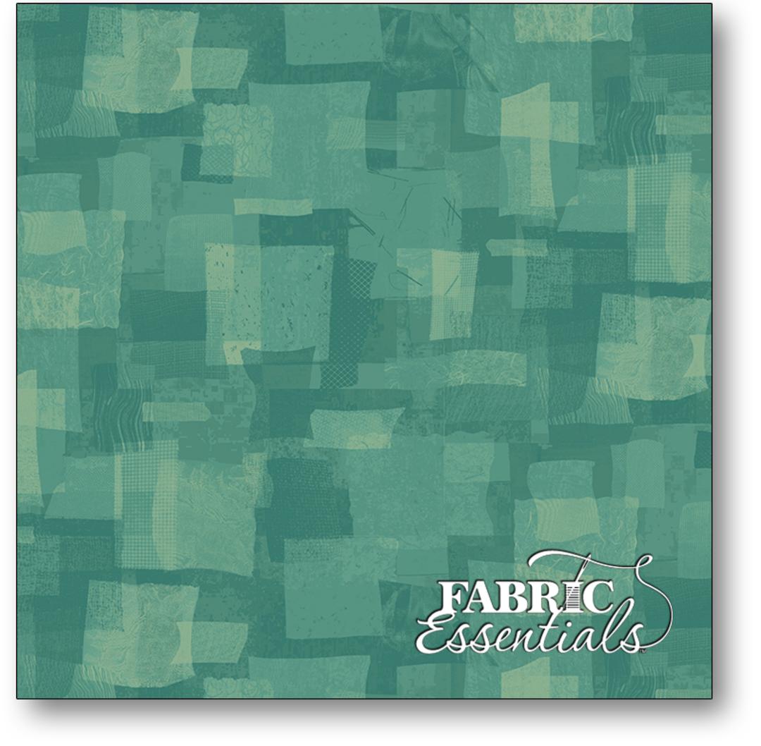 Fabric- Scrap Squares - Turquoise image 0