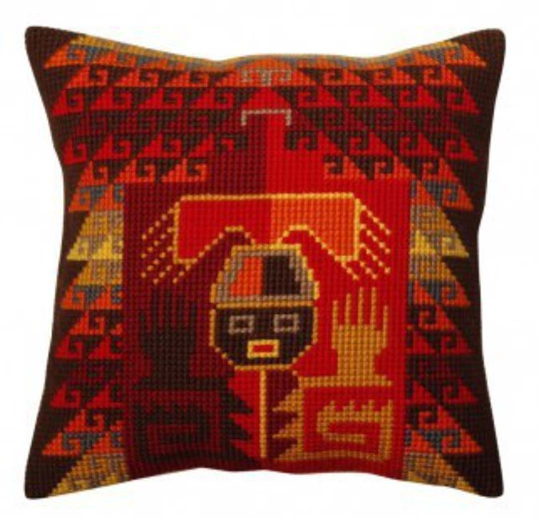 Tapestry Cushion Kit- Peruvian Ornament 5370 image 0