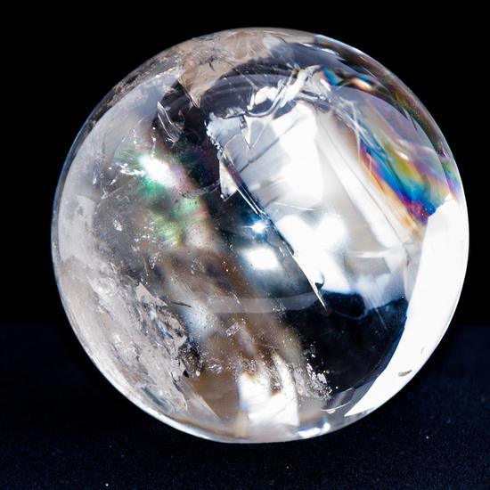 Crystalmountain Logo: Clear Quartz Sphere