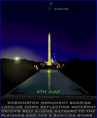 Pleiades and Washington Monument