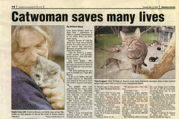 Yvonne Brown - Catwoman Saves Many Lives
