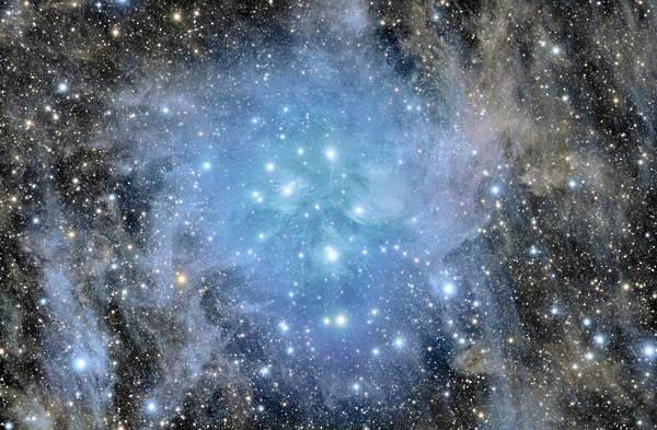 Pleiades - deep field star cluster and Maia Nebula Stanislav Volskiy