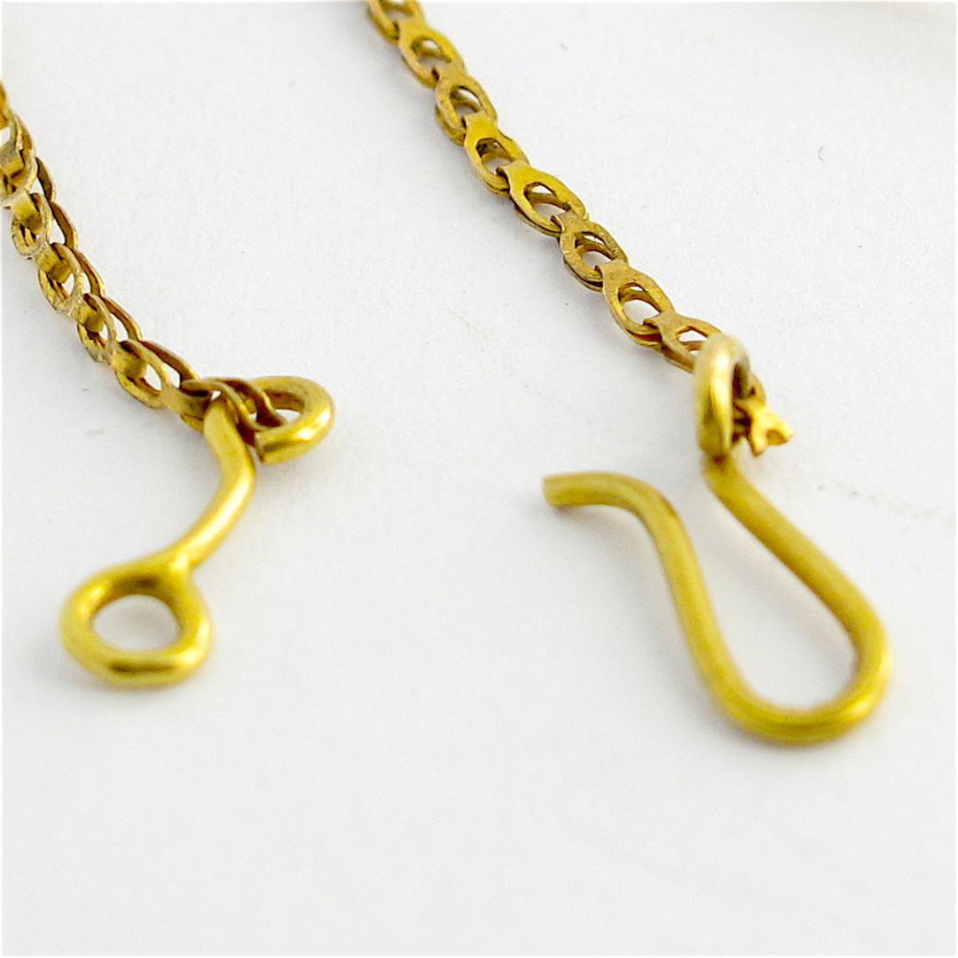 Antique 9ct yellow gold gem set necklace image 3