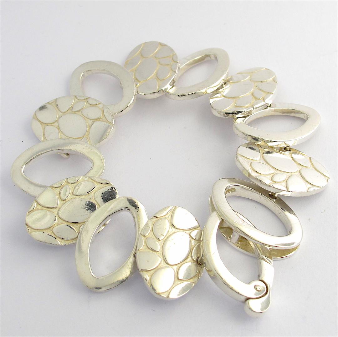Italian sterling silver fancy bracelet image 0