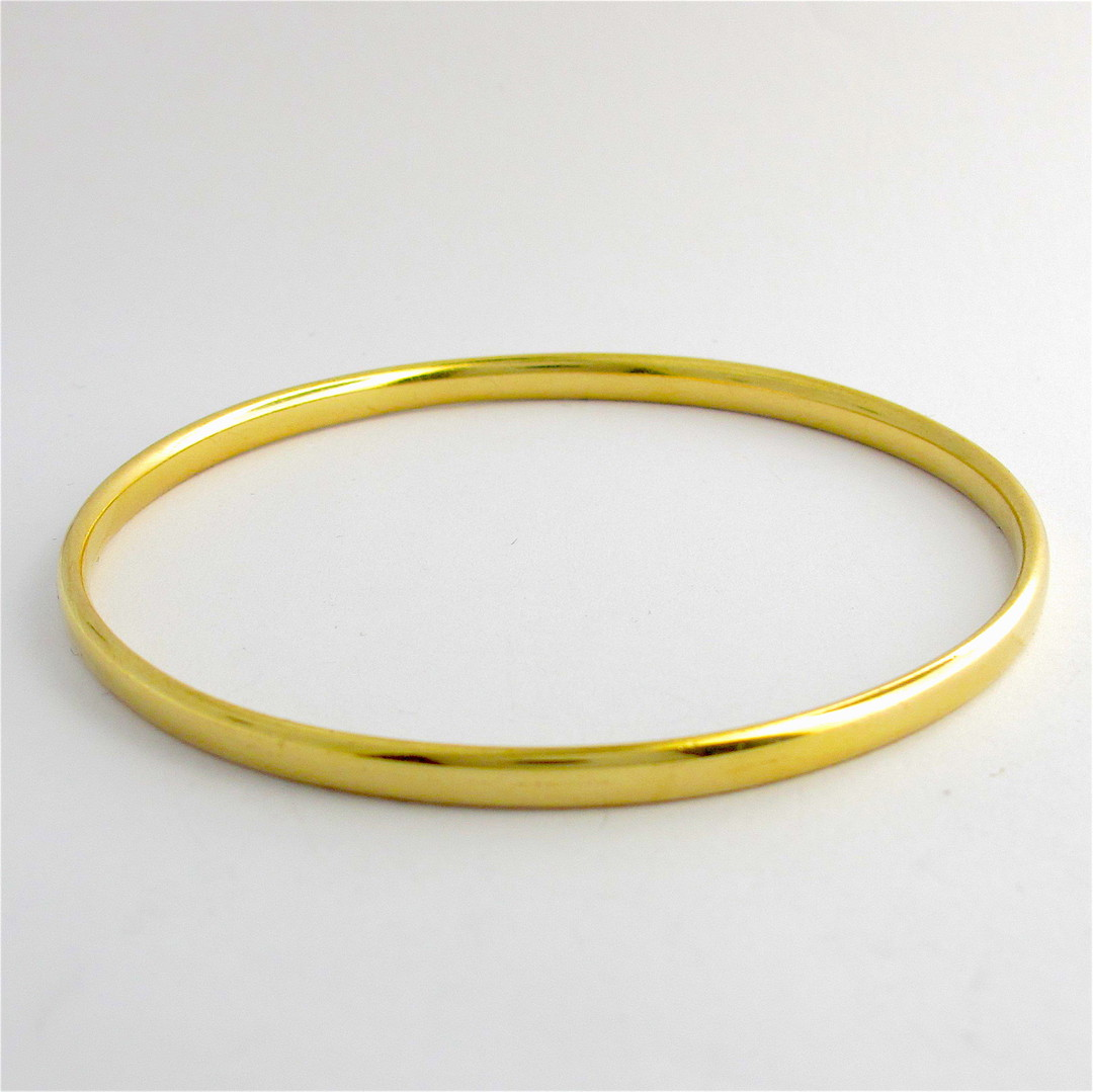 9ct yellow gold bangle image 0