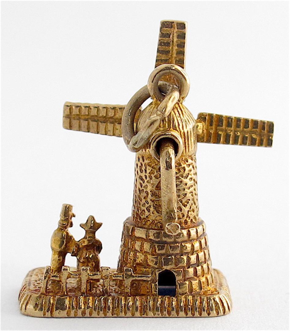 9ct yellow gold windmill charm image 1