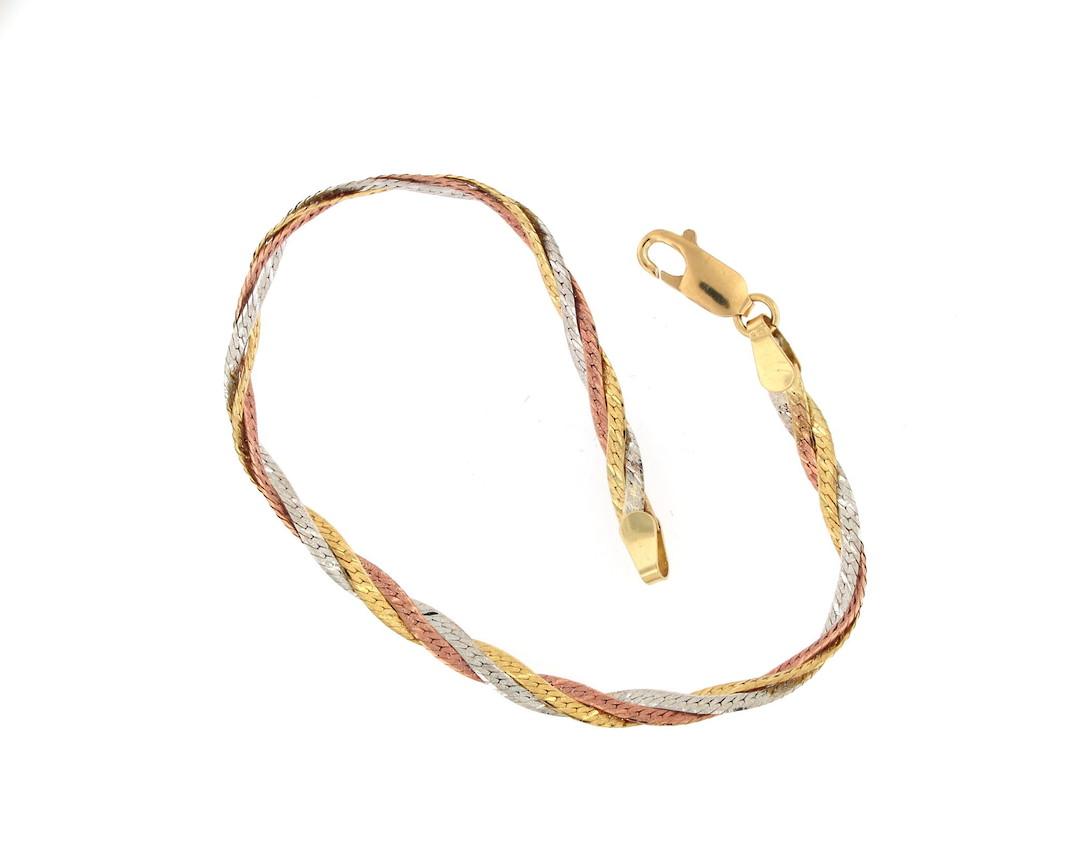 18ct tri-tonal fancy bracelet image 0