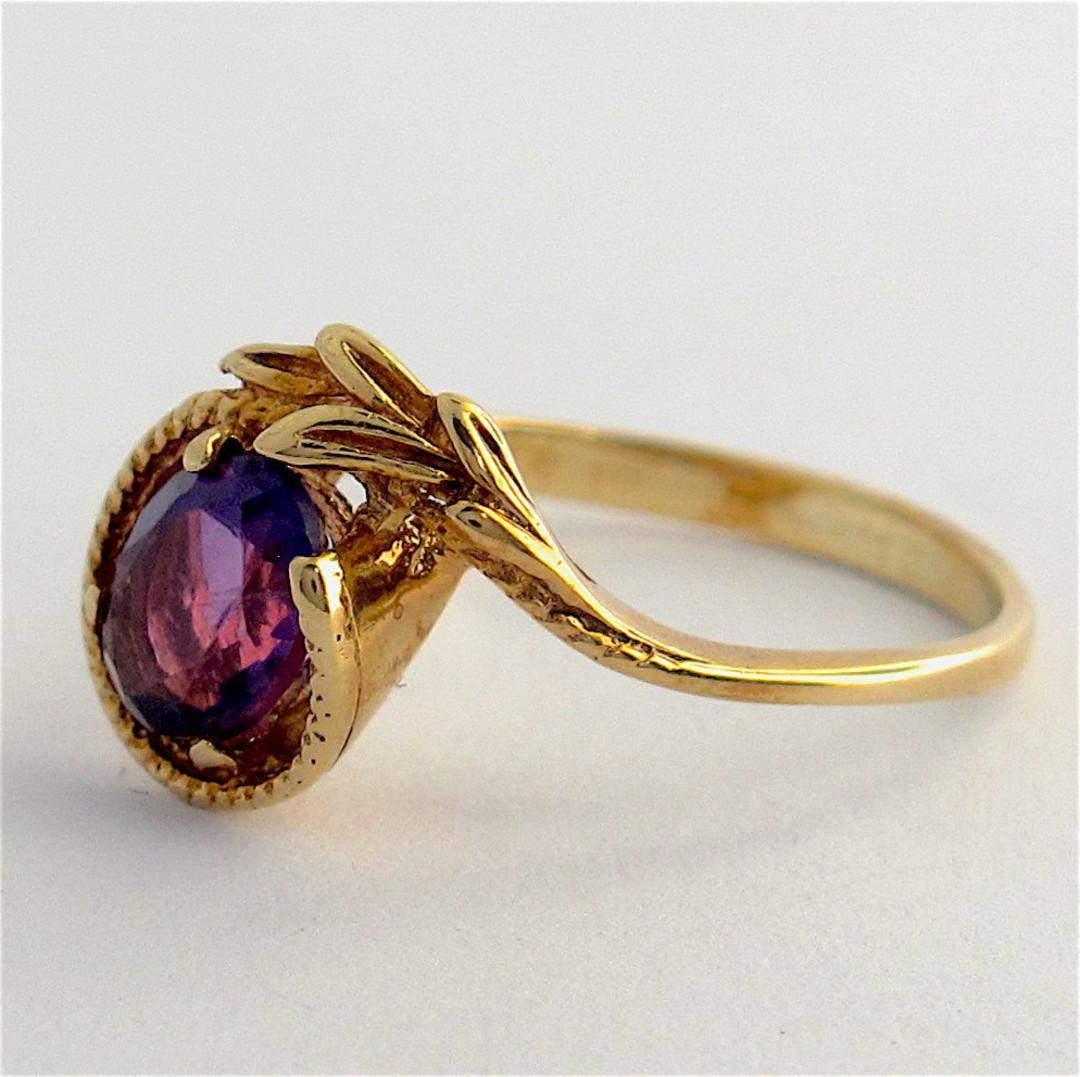 9ct yellow gold amethyst dress ring image 1