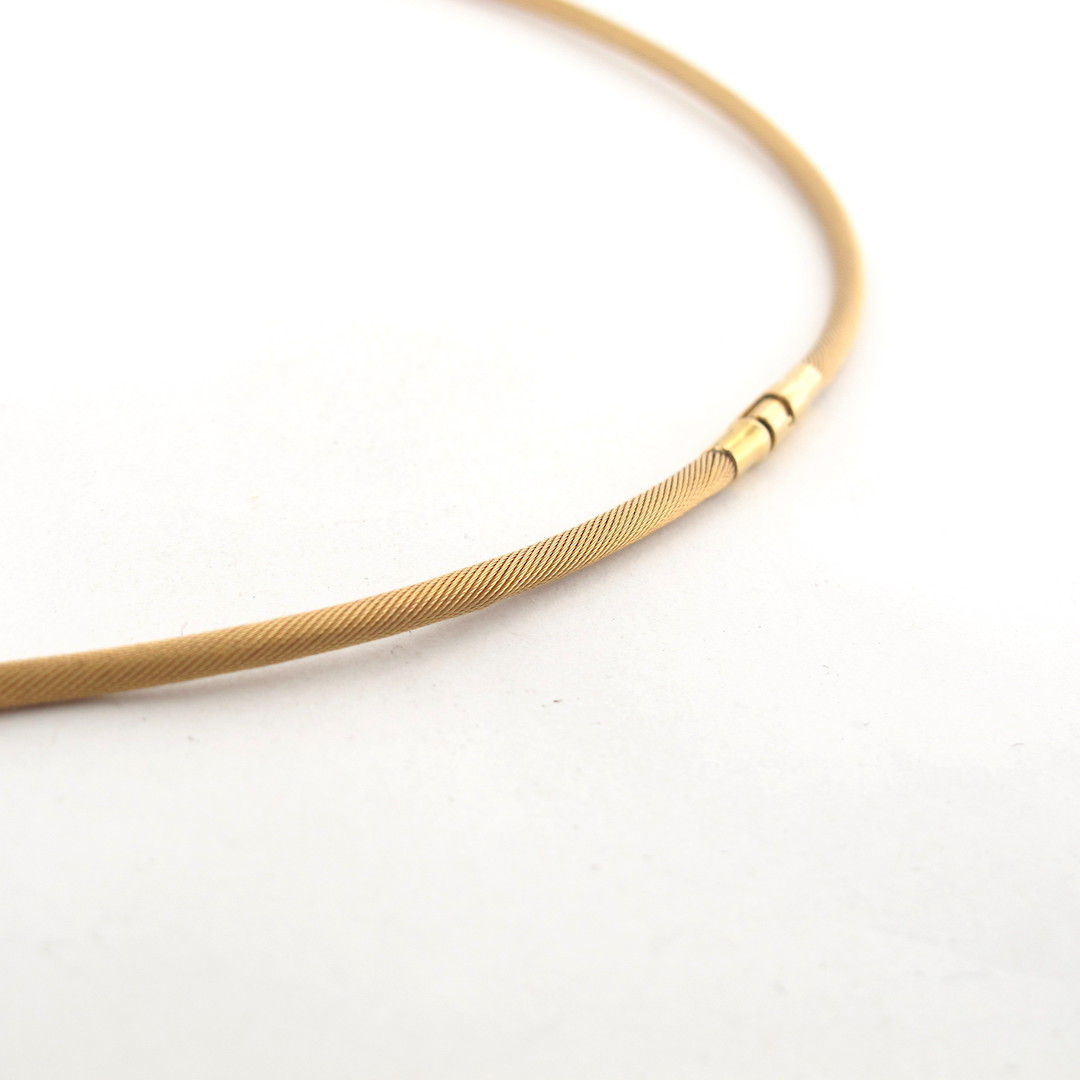 18ct matte yellow gold 'snake style' necklace image 1