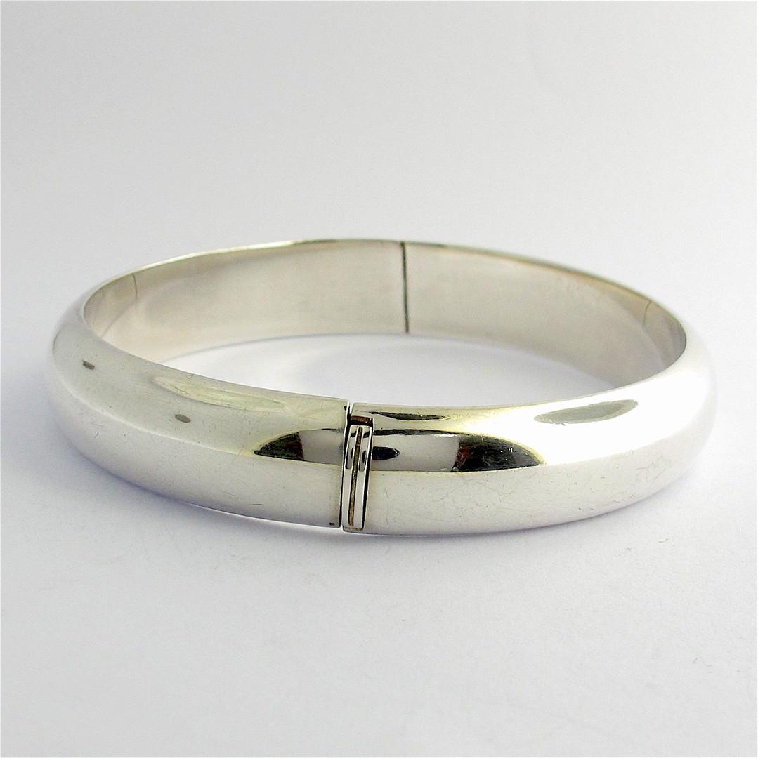 Sterling silver hinged bangle image 0