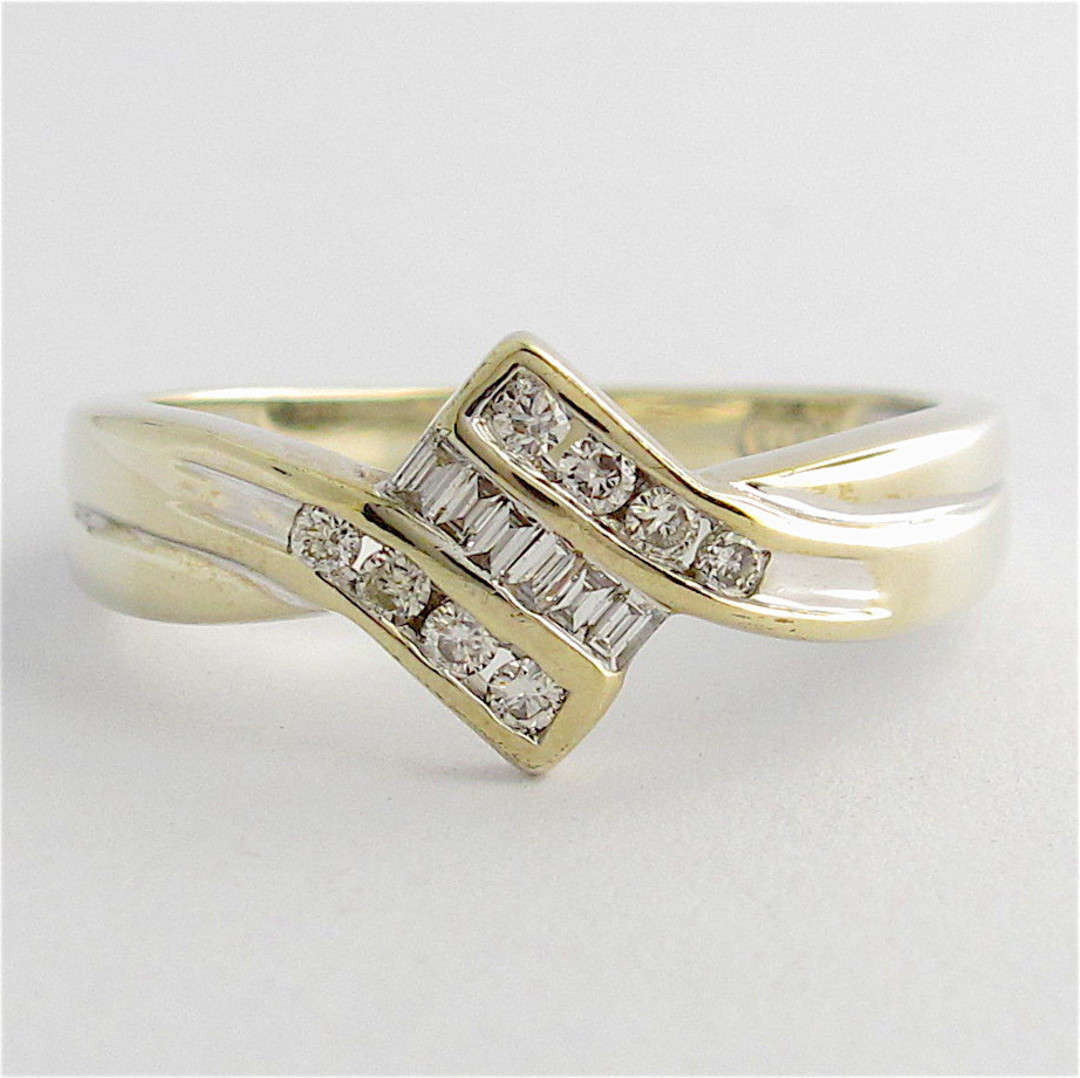 9ct white gold multi-diamond dress ring image 0