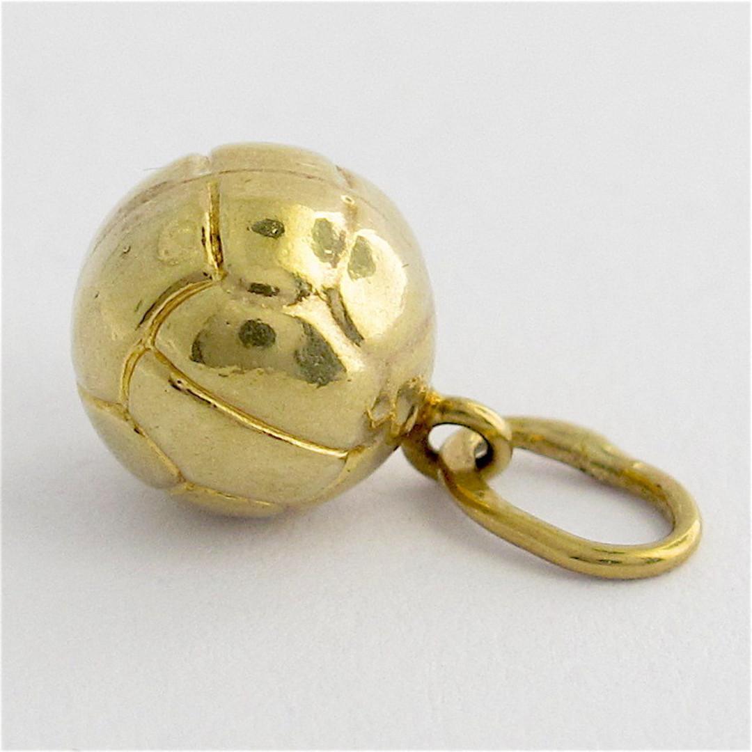 9ct yellow gold soccer ball charm image 0