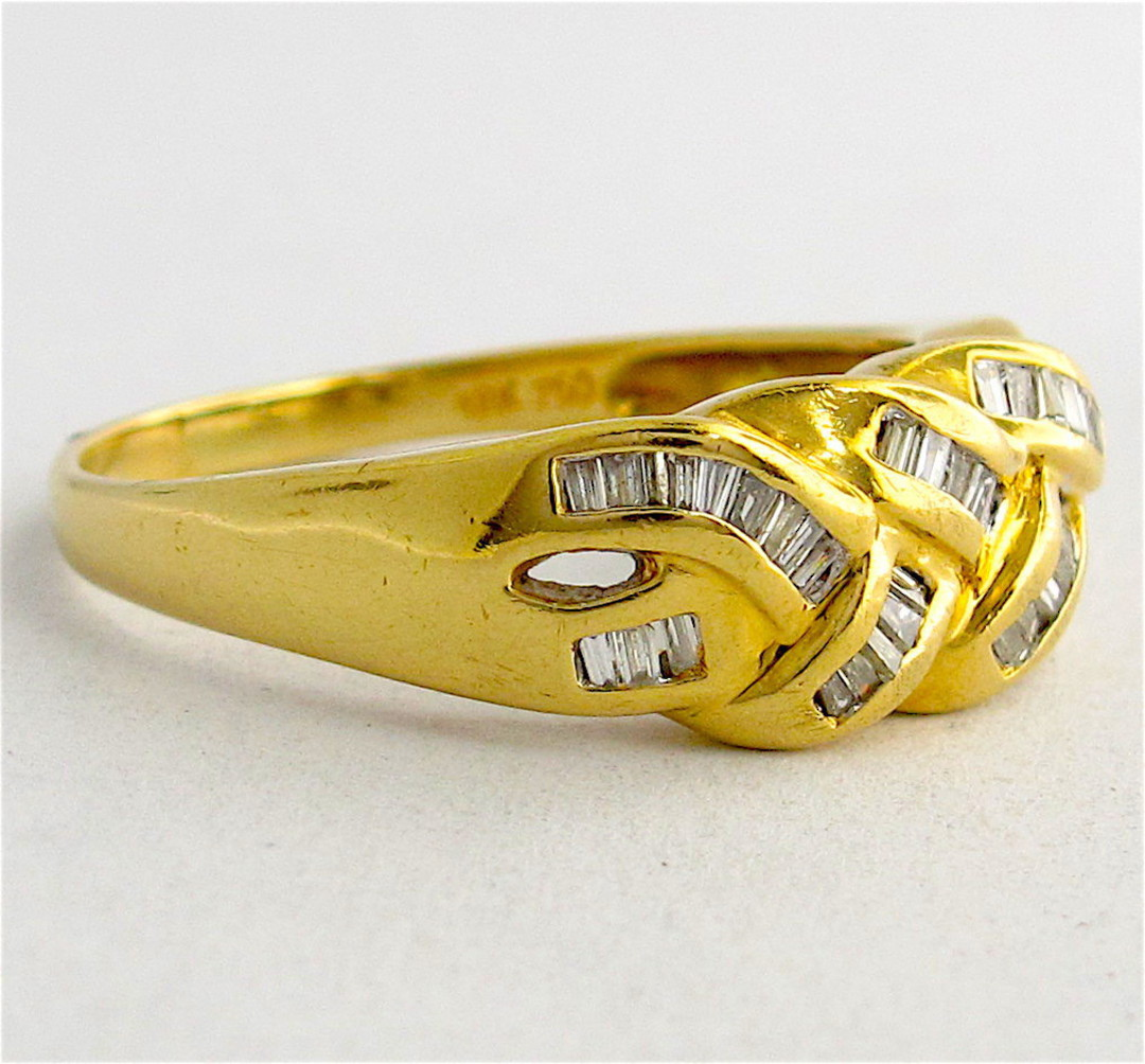 18ct yellow gold diamond set dress ring image 1