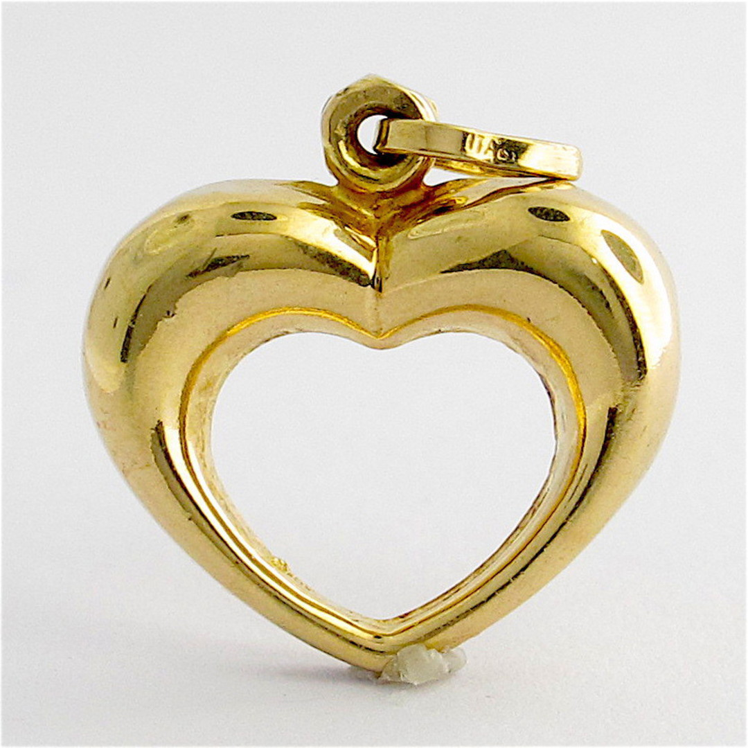 9ct yellow gold heart charm image 0