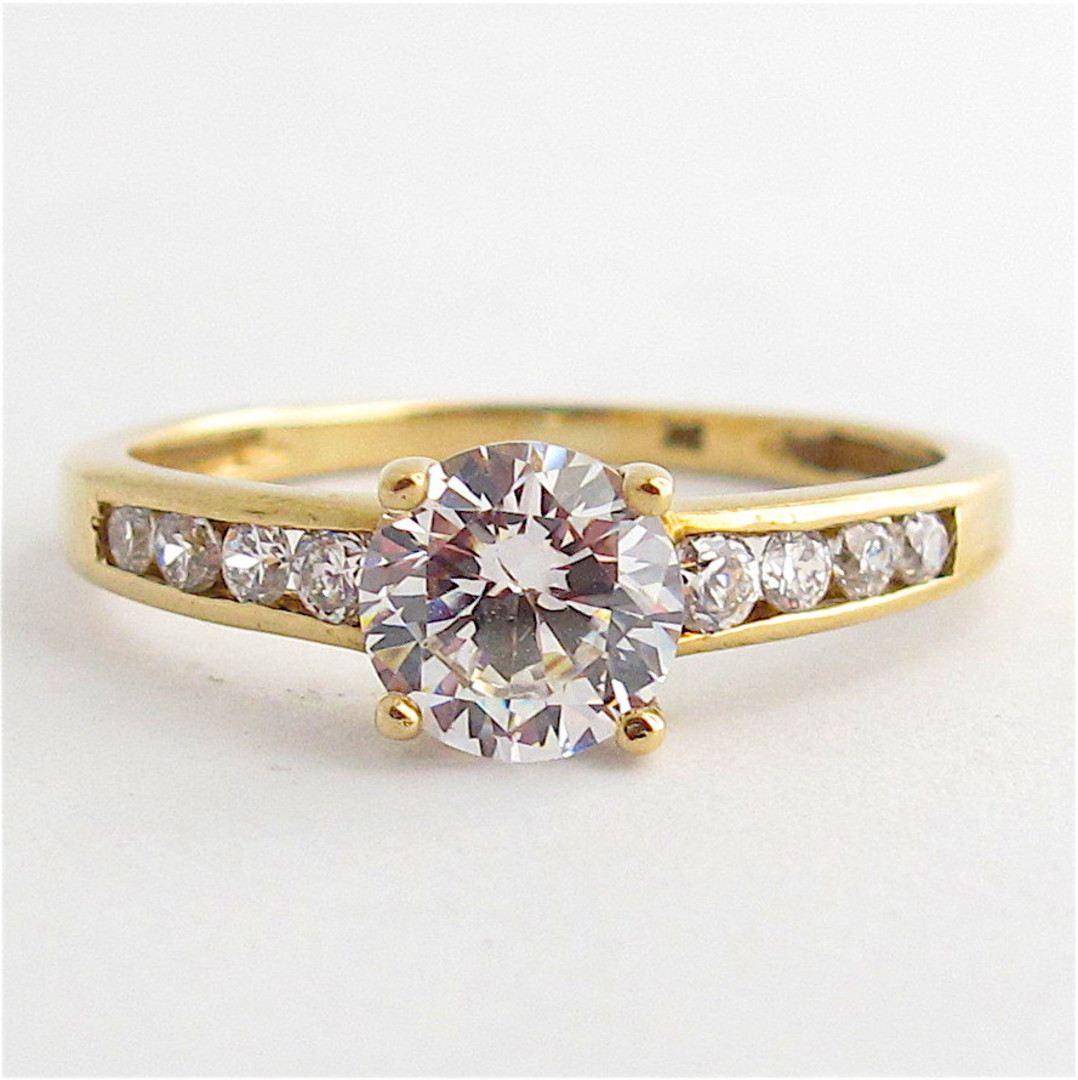 9ct yellow gold cubic zirconia dress ring image 0