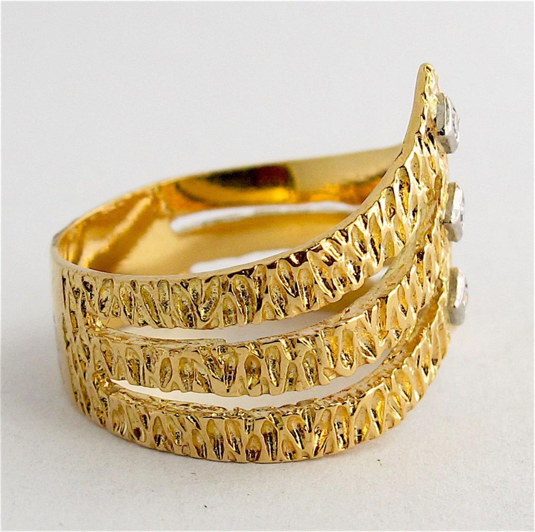 18ct yellow gold fancy diamond set dress ring image 1