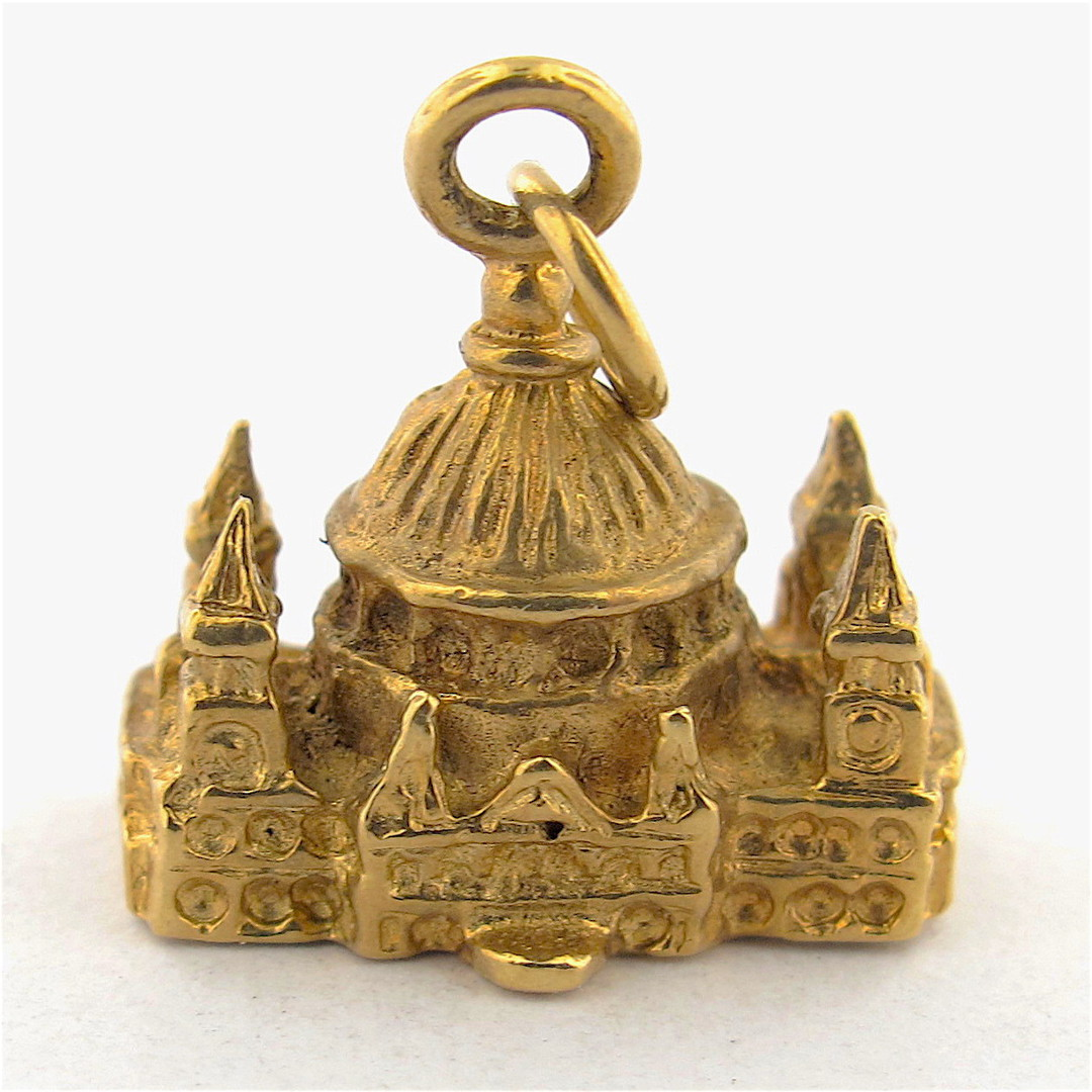 9ct yellow gold cathedral charm image 0