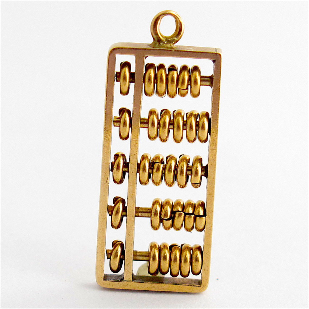 14ct yellow gold abacus charm image 0