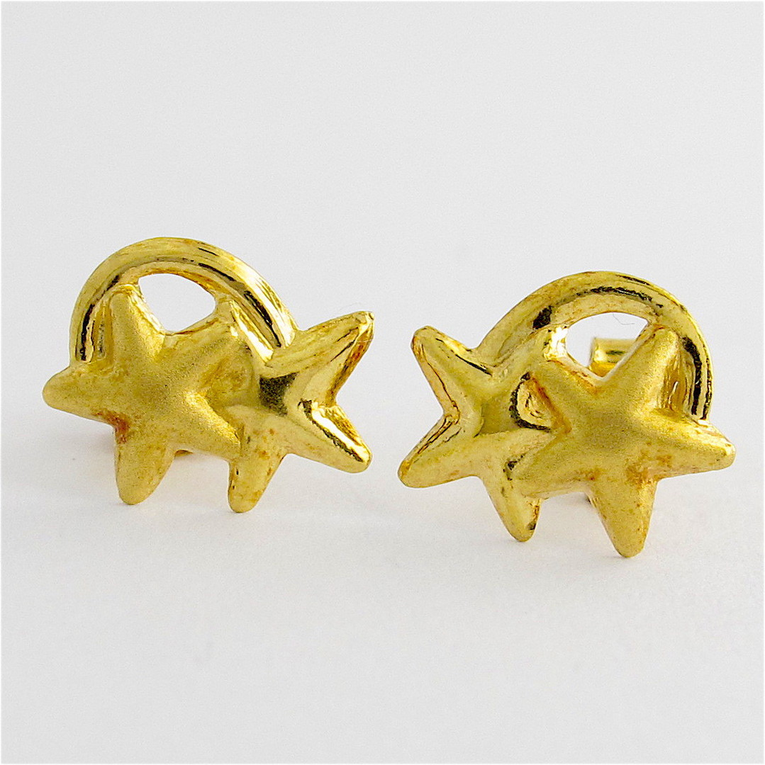 18ct yellow gold star stud earrings image 0