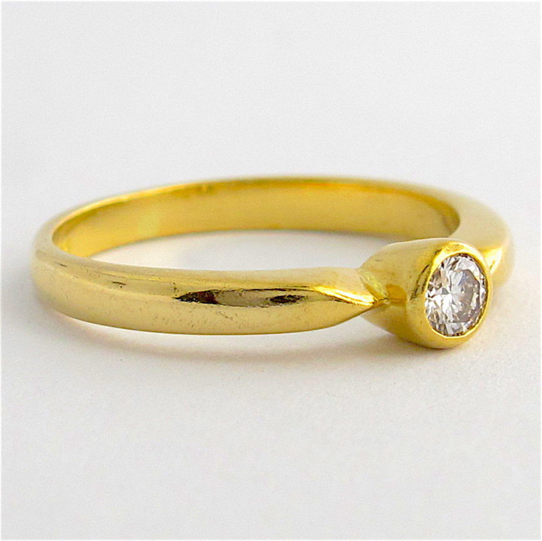 18ct yellow gold diamond solitaire ring image 1