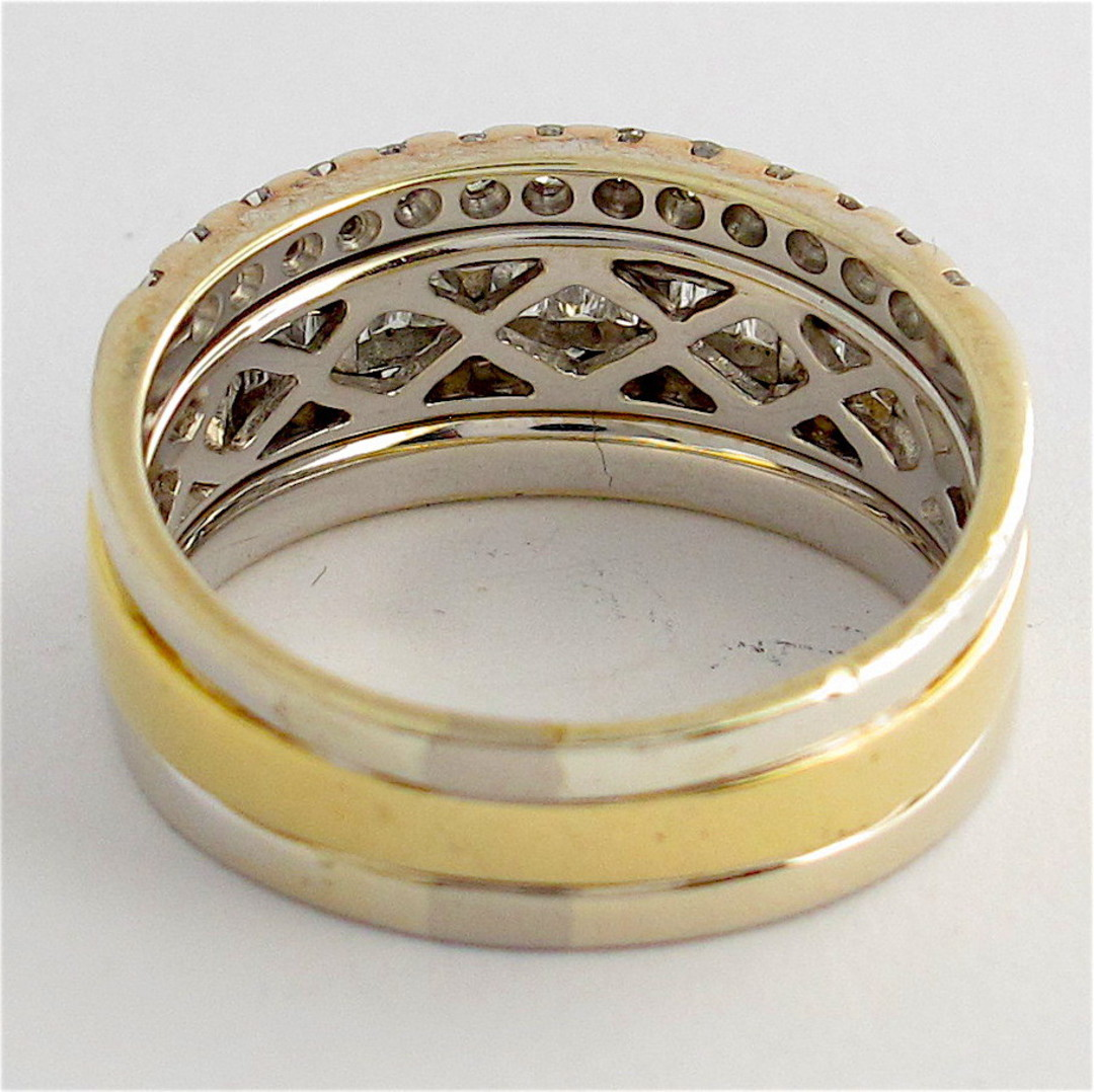 18ct yellow and white gold multi diamond style ring image 2