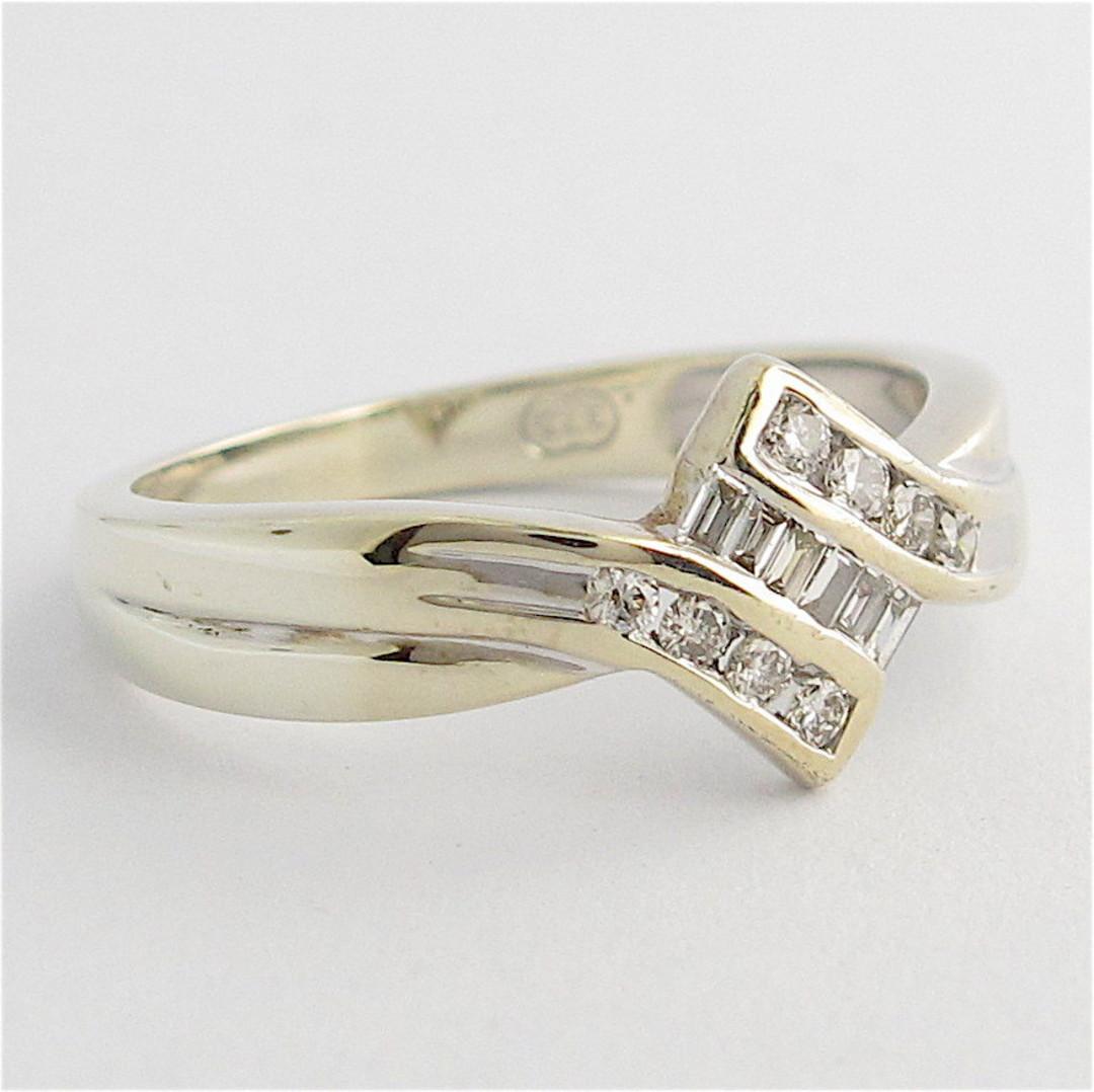 9ct white gold multi-diamond dress ring image 1