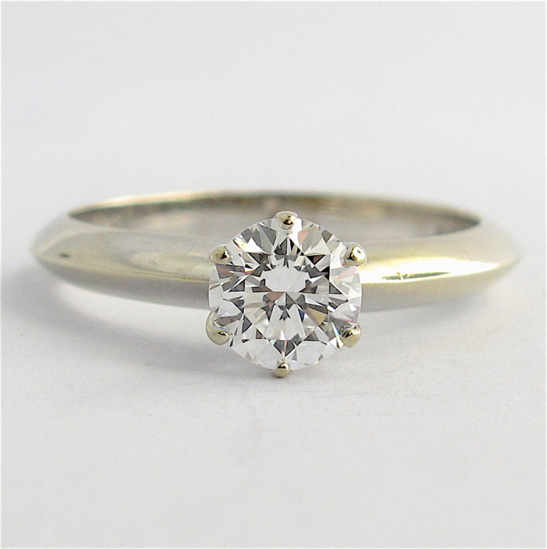 18ct white gold 0.70ct diamond solitaire ring image 0