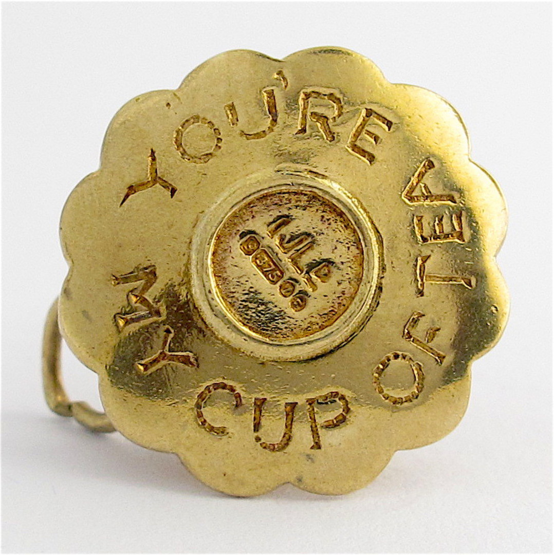 9ct yellow gold teacup charm image 1