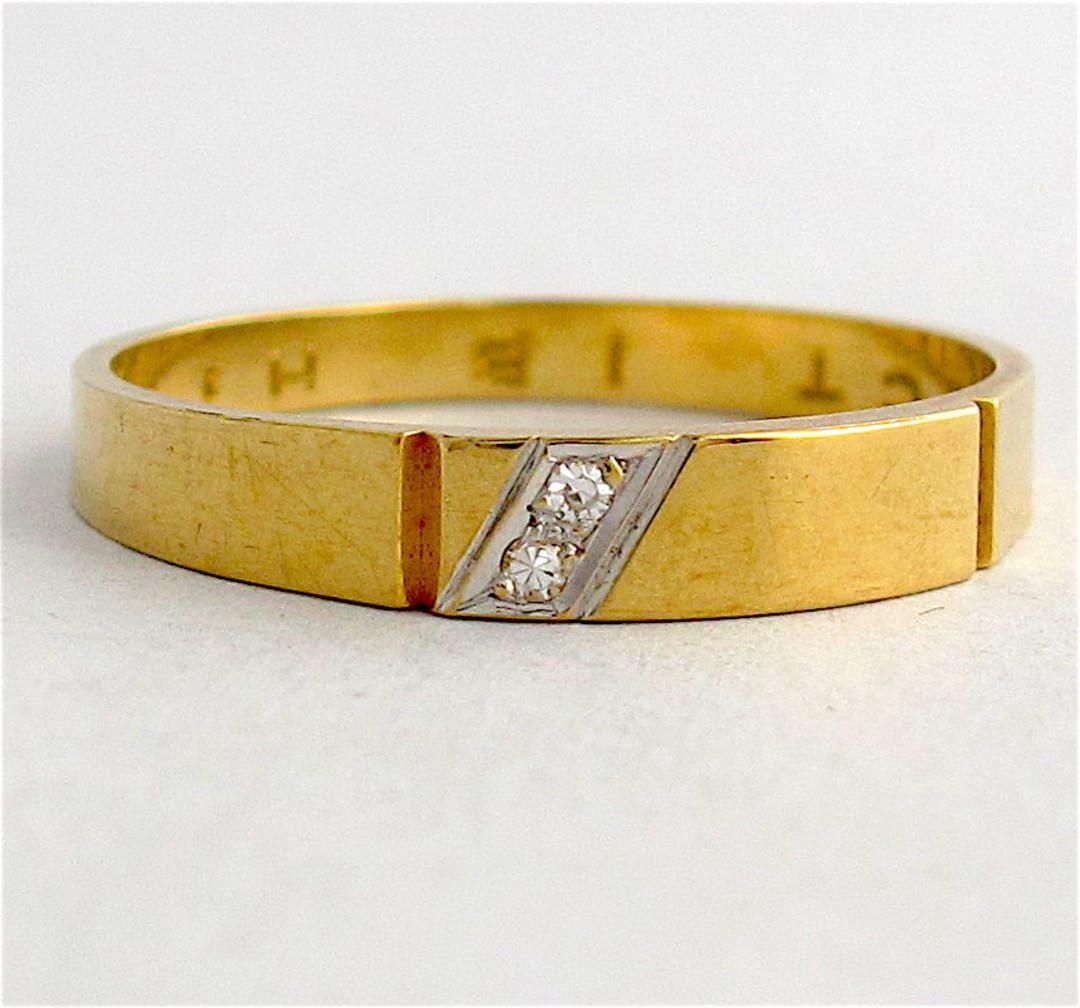 9ct yellow gold diamond set dress band image 0