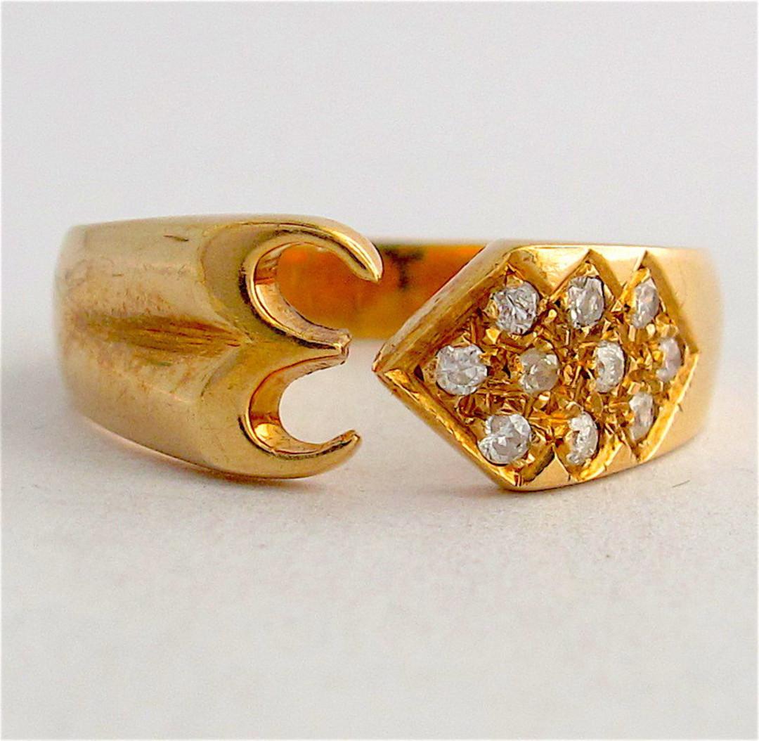18ct yellow gold diamond set dress ring image 0