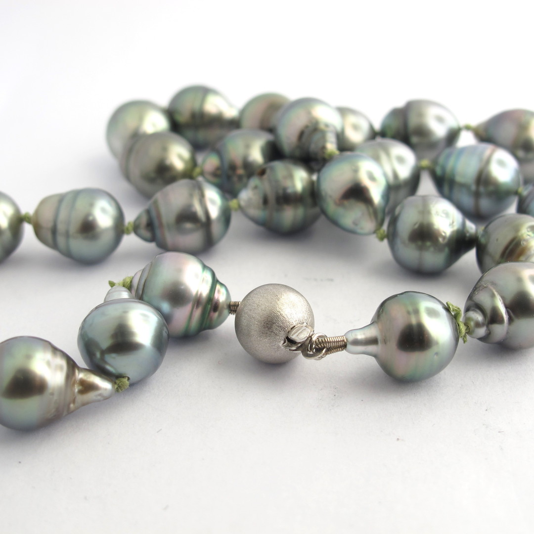 South Sea black baroque cultured pearl necklace image 1