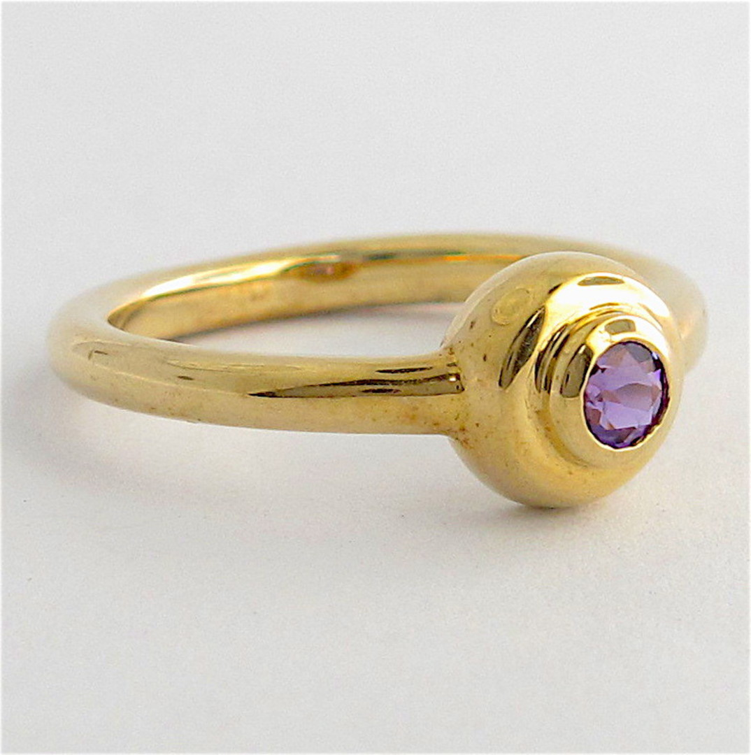 9ct yellow gold and amethyst dress ring image 1
