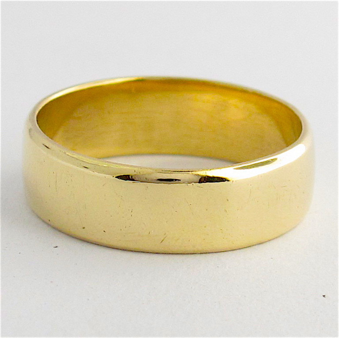 9ct yellow gold flat wide band image 0