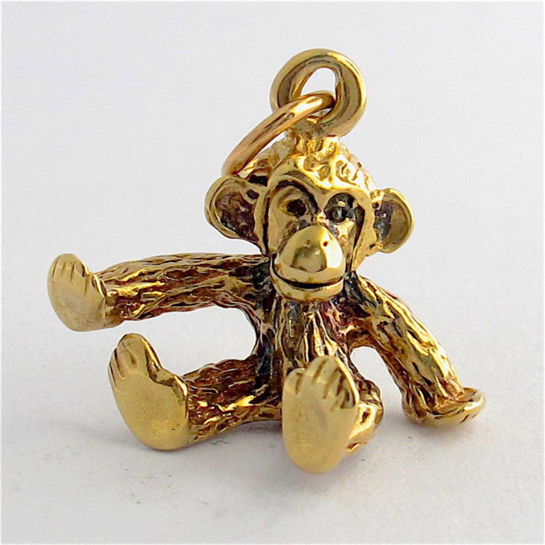 9ct yellow gold monkey charm image 0