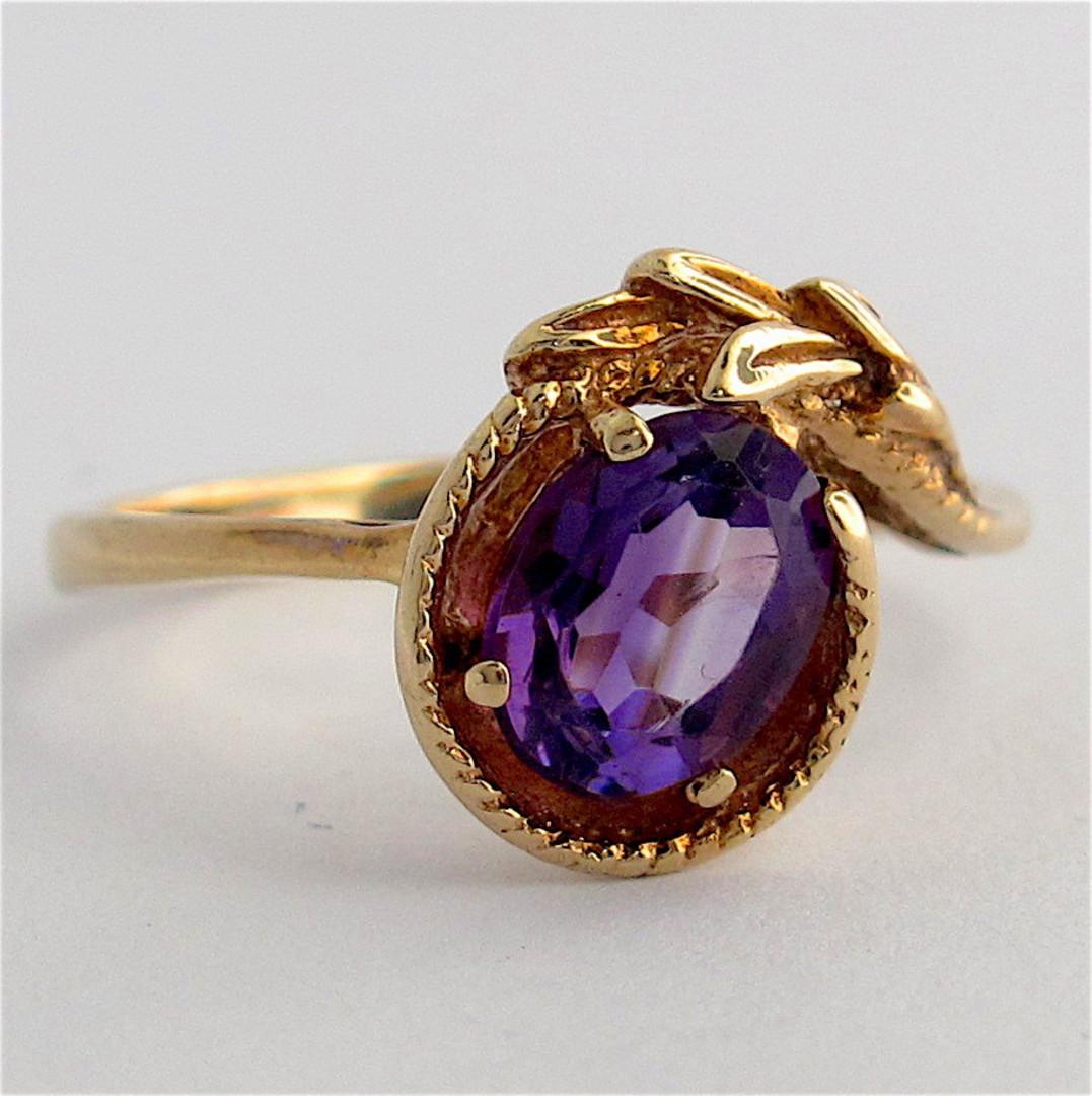 9ct yellow gold amethyst dress ring image 0