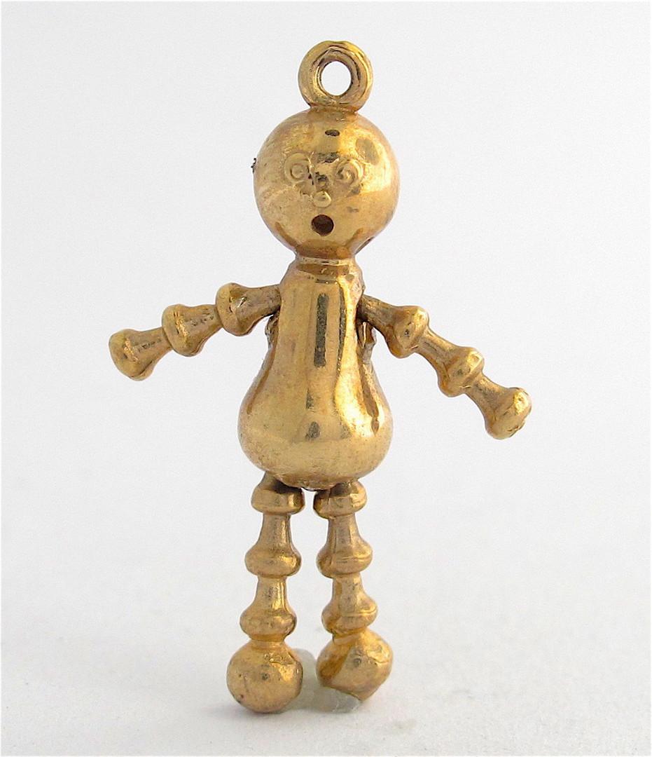 9ct yellow gold lulu doll charm image 0