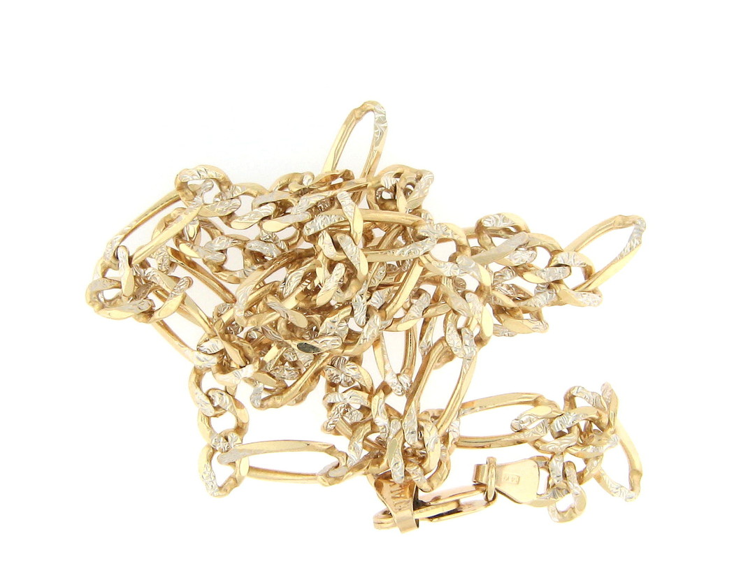 9ct yellow gold fancy figaro link chain image 0
