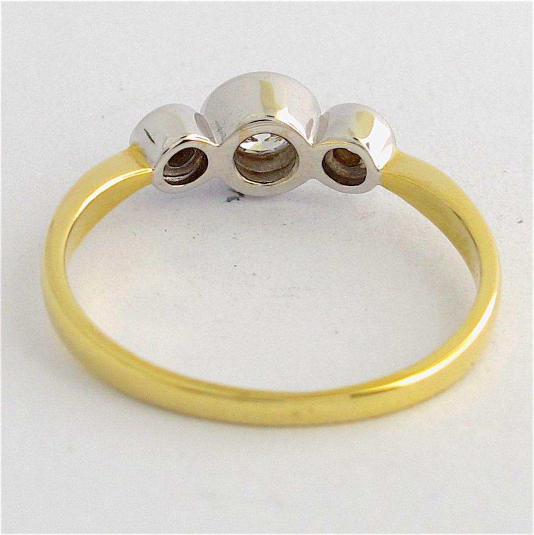 18ct yellow and white gold 3 stone diamond ring image 2