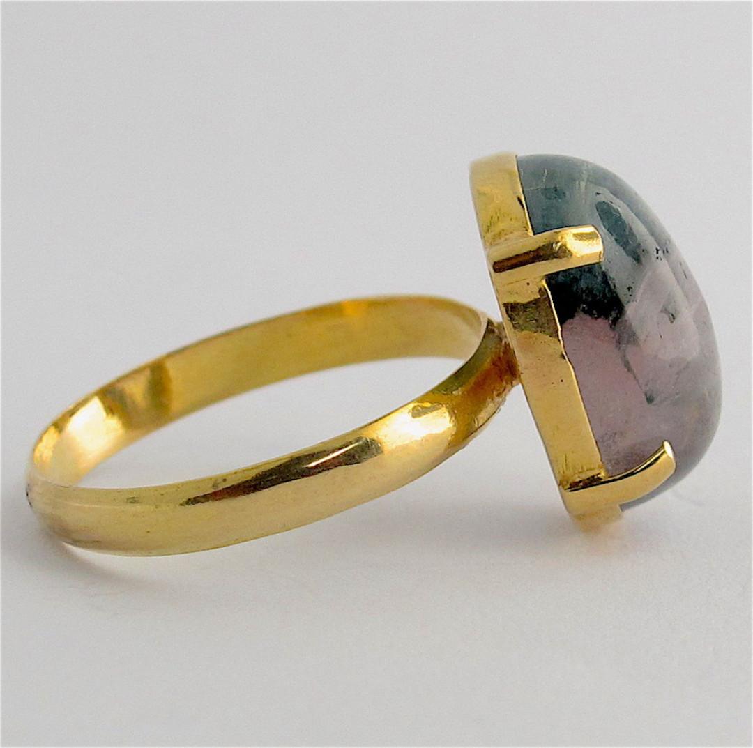 18ct yellow gold aventurine quartz ring image 1