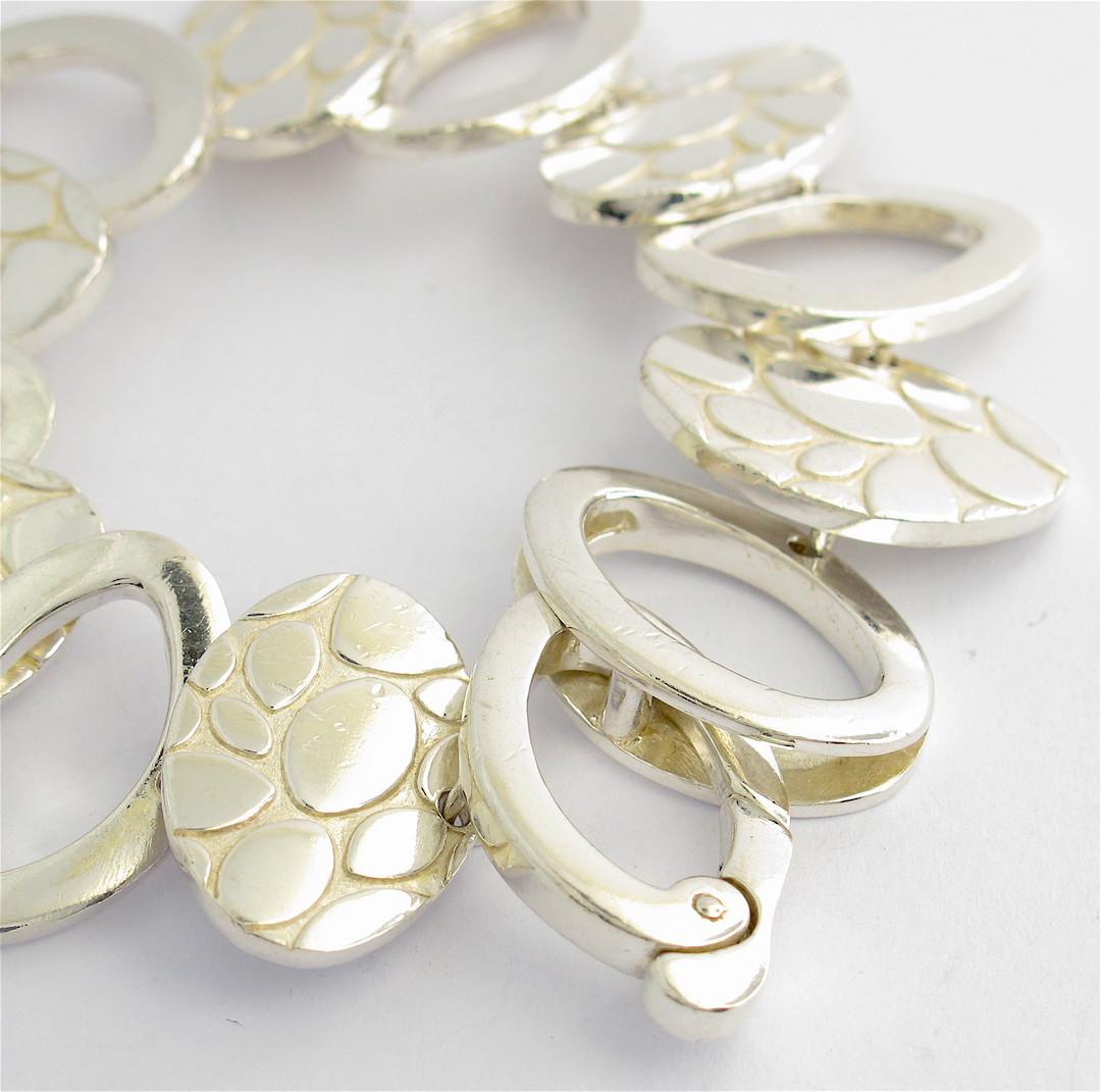 Italian sterling silver fancy bracelet image 1
