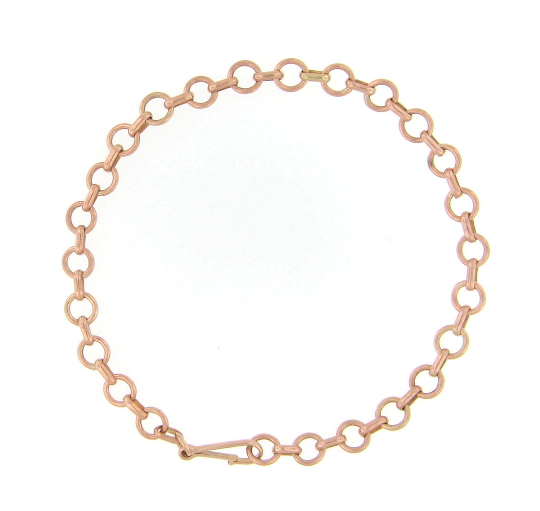 9ct rose gold fancy link bracelet image 0