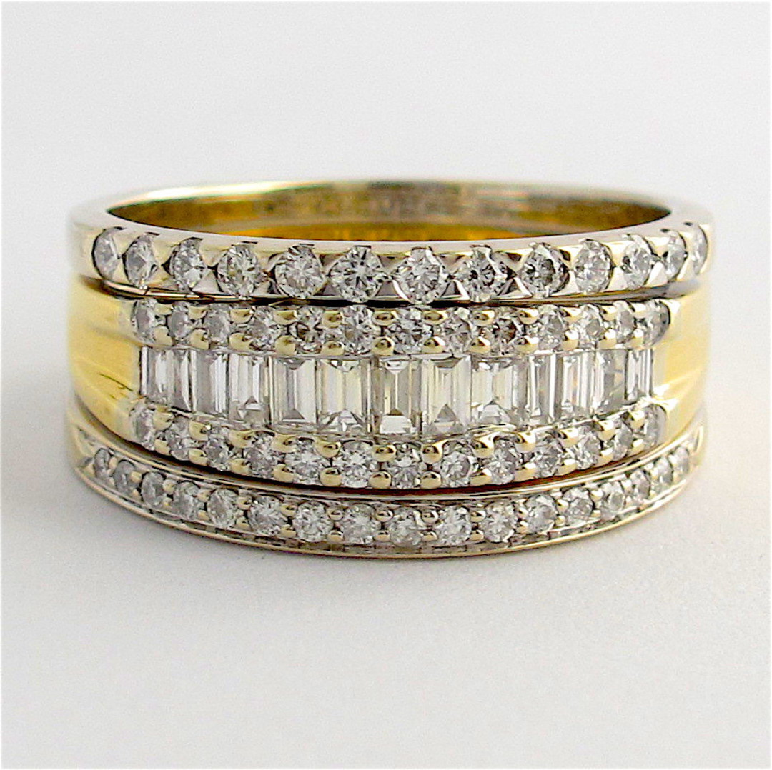 18ct yellow and white gold multi diamond style ring image 0