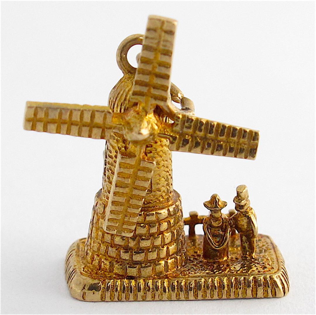 9ct yellow gold windmill charm image 0