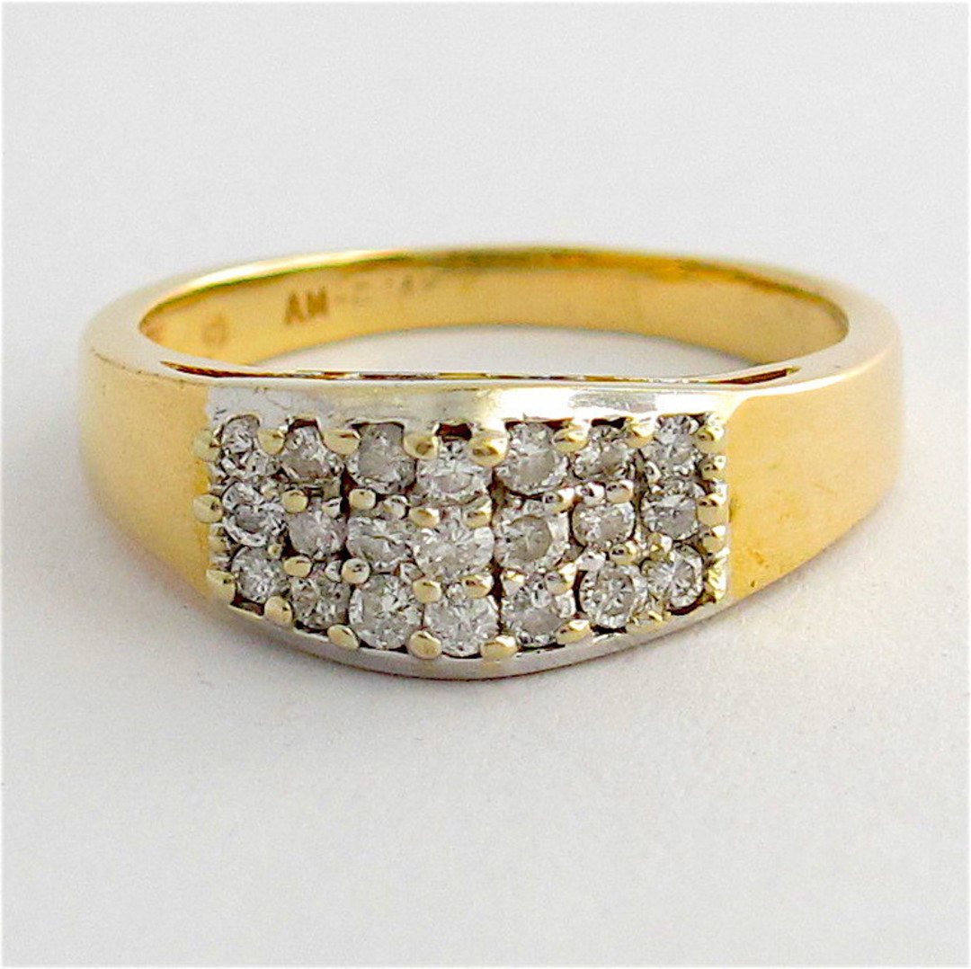14ct yellow gold multi diamond ring image 0