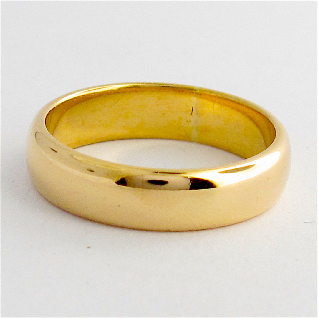 18ct rosey gold wedding band image 0