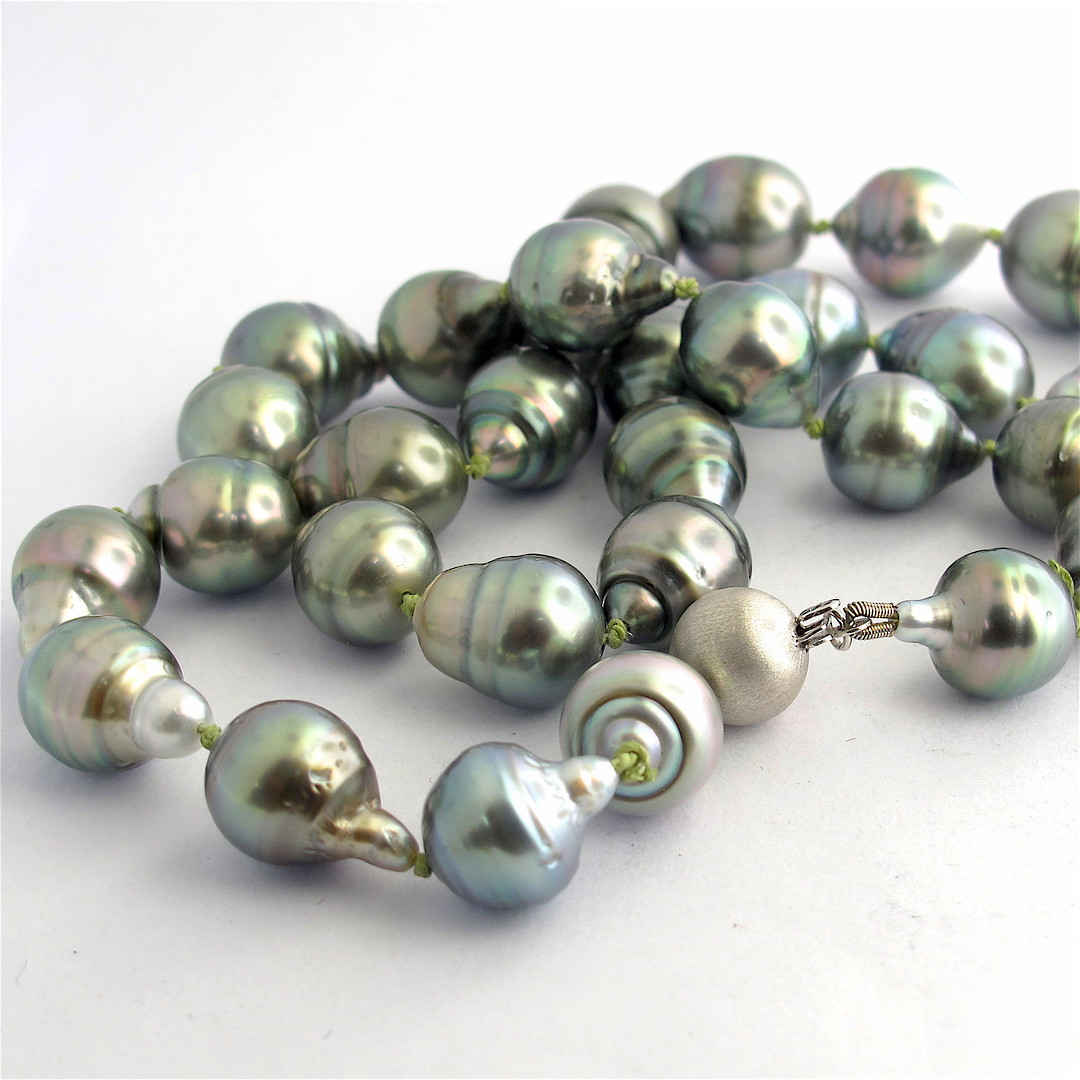 South Sea black baroque cultured pearl necklace image 0
